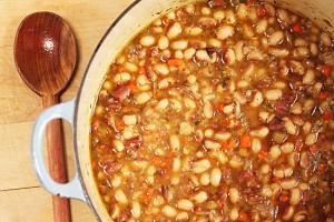 Rancho-Gordo-Yellow-Eye-Bean-Pot