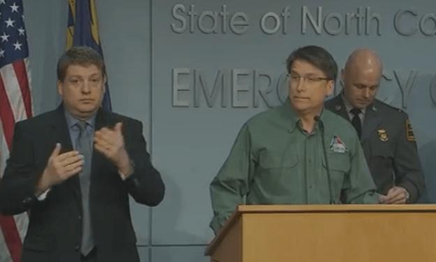 Gov. McCrory Addresses Impending Winter Weather
