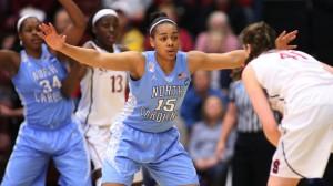 Allisha Gray led UNC with 19 points (UNC Athletics)