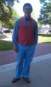 Ellis Llewellyn, one of Chapel Hill's most stylish high school students, wears his colors well.