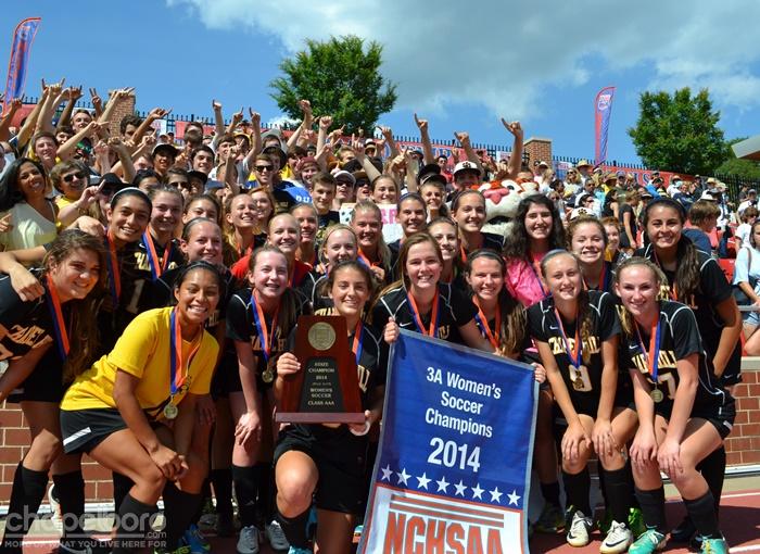 2014 NCHSAA Women's Soccer Championship Celebration