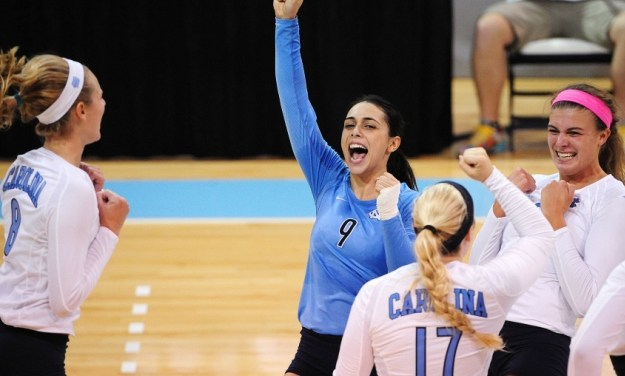 UNC Volleyball Beats Duke in Five-Set Match