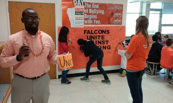 Phillips Middle Students, Staff Take a Stand Against Bullying