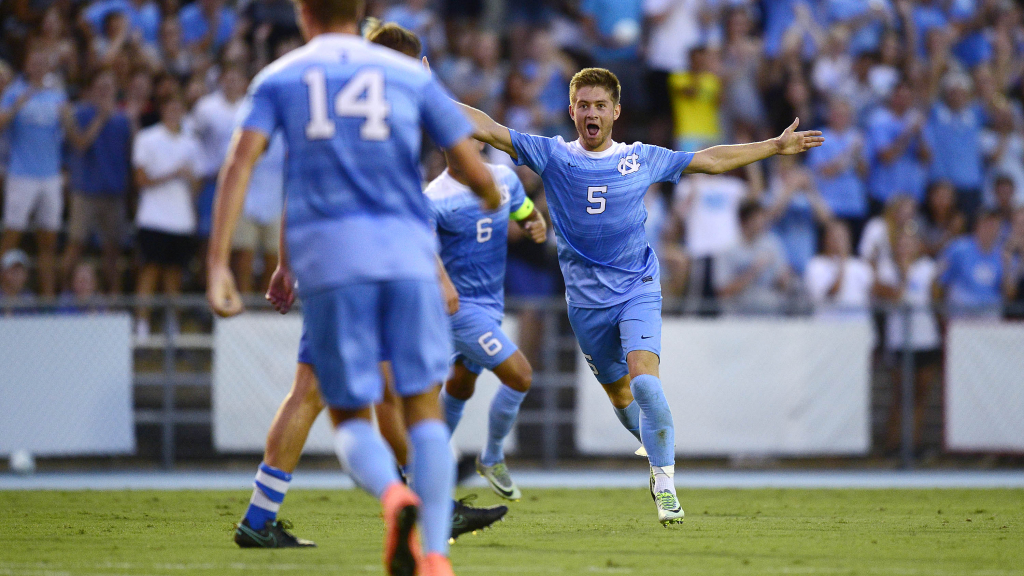 Lindley's Goal Pushes UNC Men's Soccer Past Pitt in ACC Opener