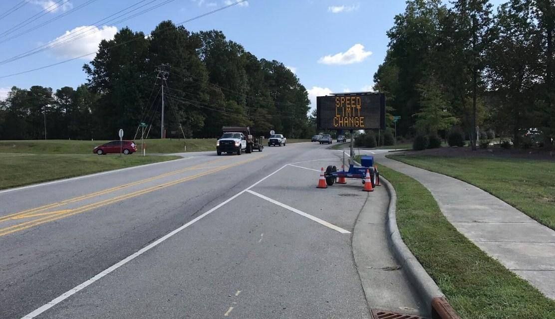 Eubanks Road Speed Limit Decreased