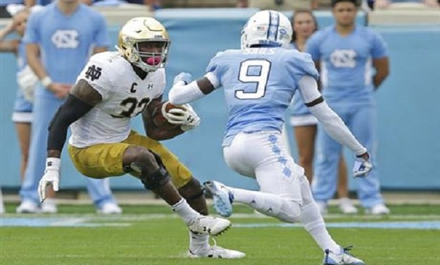 No. 21 Notre Dame Throttles UNC Football, Tar Heel Offense Lifeless Again