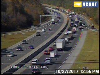 Lane of I-40 West Reopens in Orange County