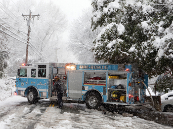 Crews Respond to Fire in Chapel Hill Amid Winter Storm