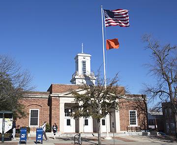 Chapel Hill Raises Gun Violence Awareness Flag