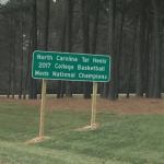 UNC Championship Signs Upset NC State Fans