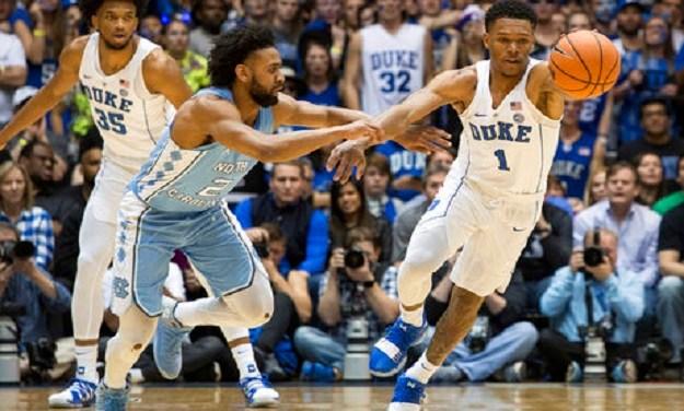 No. 5 Duke Erases 13-Point Second-Half Deficit to Defeat No. 9 UNC in Regular Season Finale