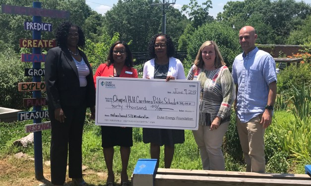 CHCCS Receives $40,000 Grant from Duke Energy Foundation for STEM Program at Northside Elementary