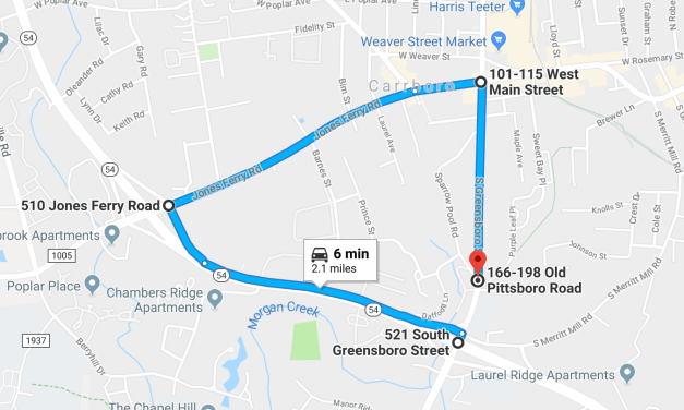 Portion of South Greensboro Street in Carrboro Closing for 2 Months