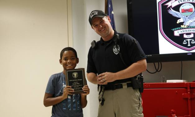 Carrboro Child Honored with Life Saving Award for Saving Toddler from Pool