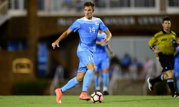 Nils Bruening Scores Twice to Lead UNC Men's Soccer Past No. 19 Virginia Tech