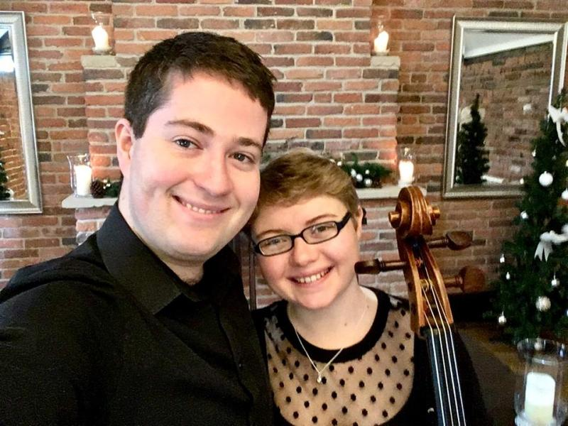 Violinist Jaya Hanley (left) and Cellist Sarah James (right)