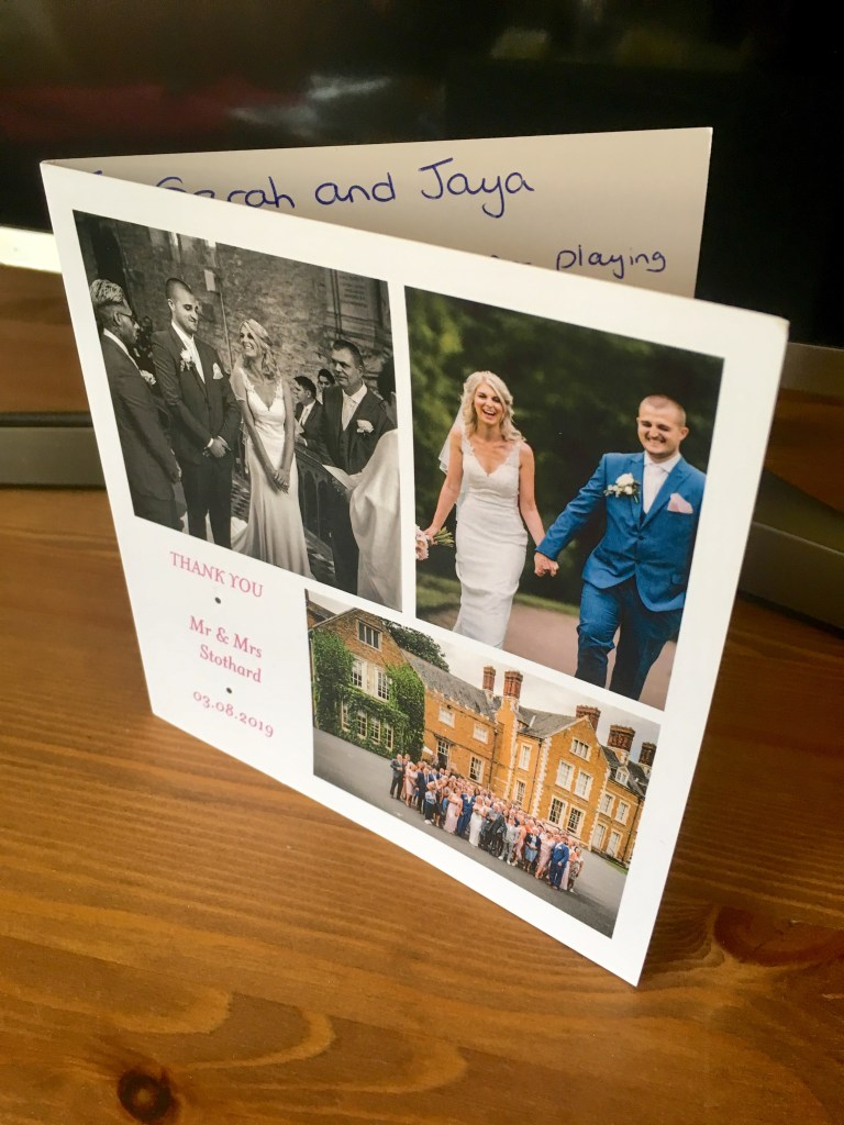 a thank you card to the chapel hill duo