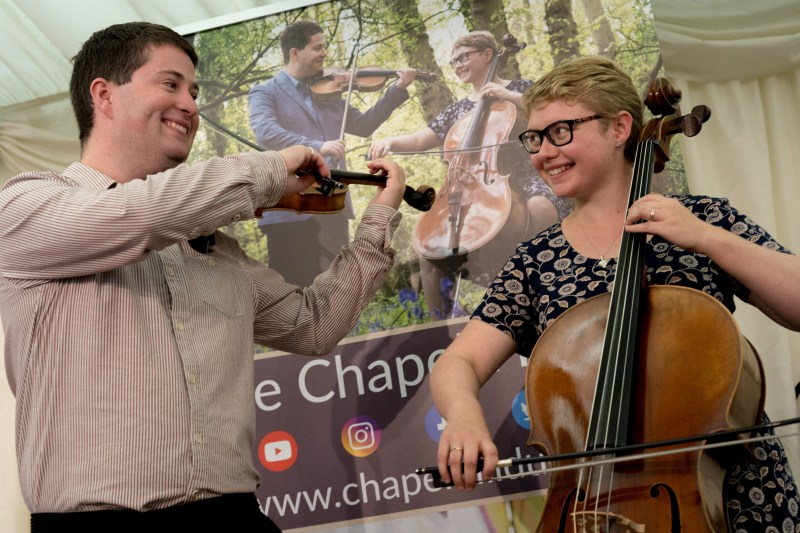 The Chapel Hill Duo at the Cupid's Autumn Weddings fair at the Springfields event centre.