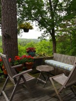 Lazarus Garden Seating On Back Deck