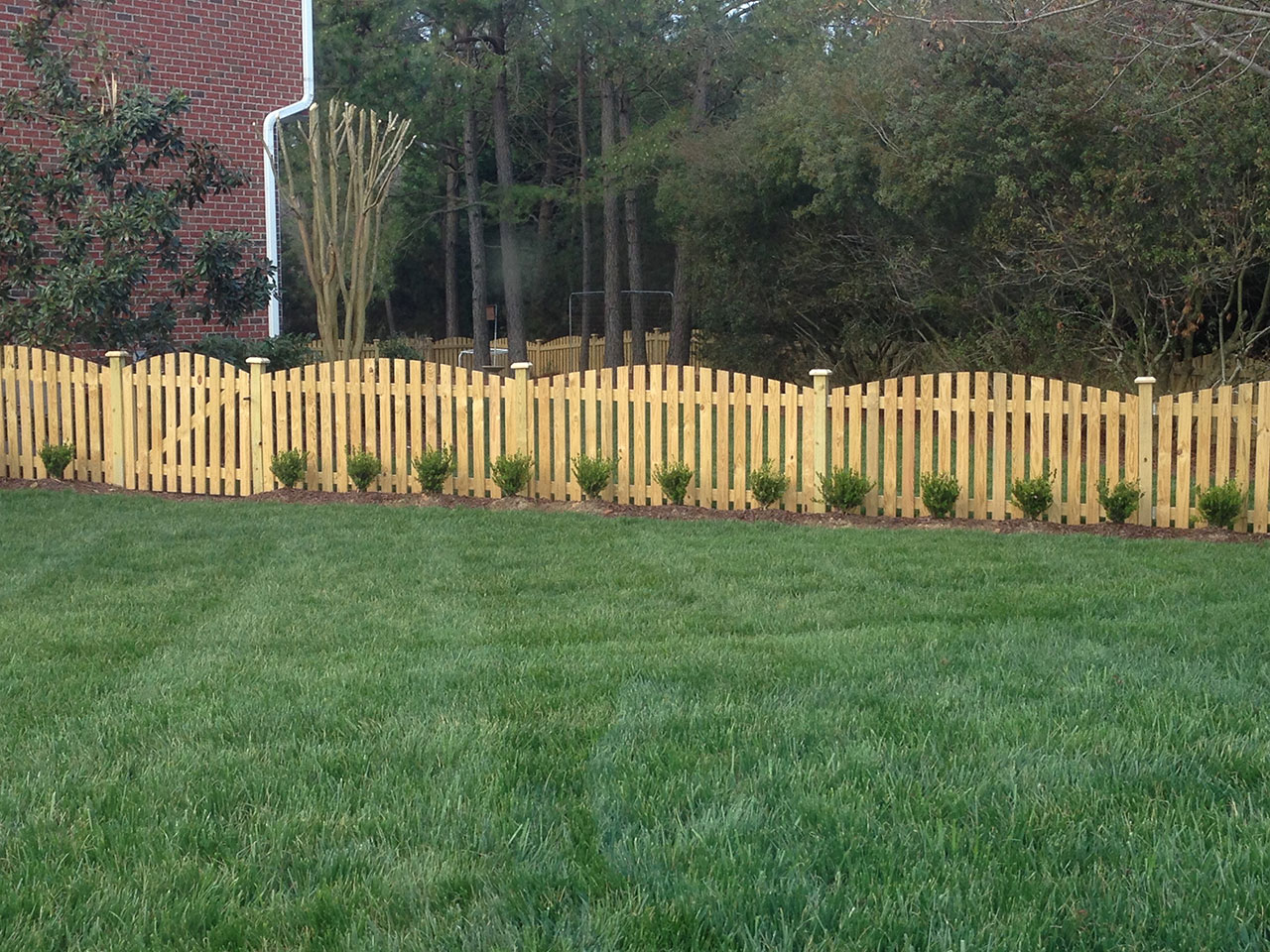 Wood Picket Fence