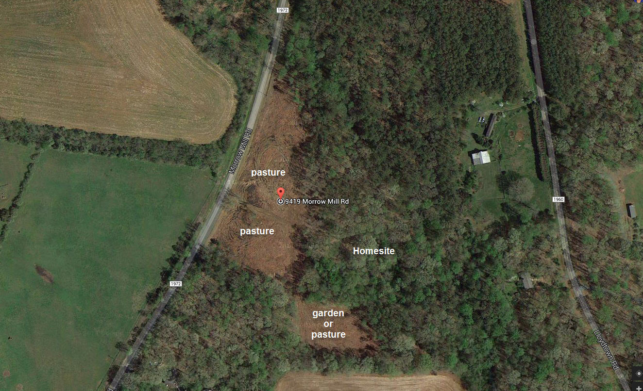 morrow mill map of lot from Google