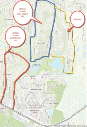 Oaks school district map
