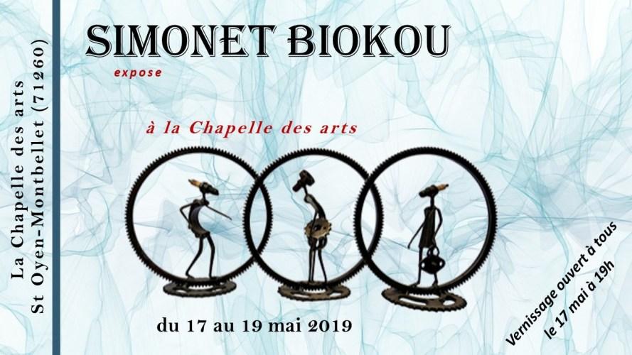 Exposition de Simonet Biokou à La Chapelle des Arts Saint Oyen Montbellet
