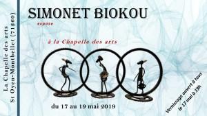 Exposition de Simonet Biokou à La Chapelle des Arts