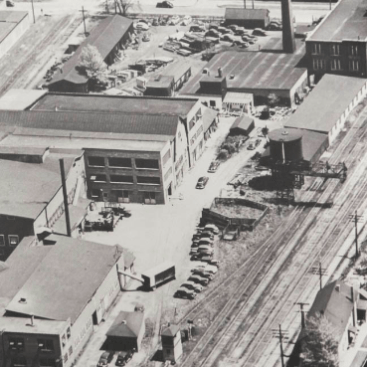 Arial view of the original Chapin building