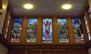 Amport House Chapel Stainedglass window