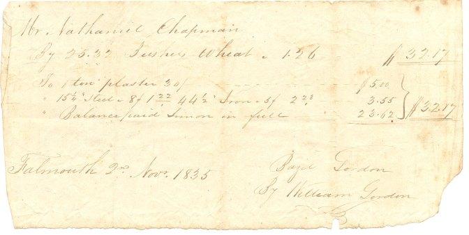 1835 Receipt