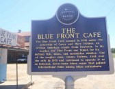 The Blue Front's Blues Trail Marker