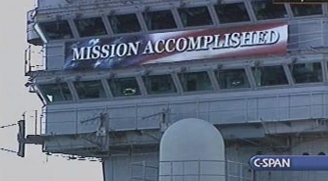 Mission Accomplished, Trump Style