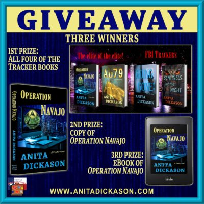 Operation Navajo tour giveaway graphic. Prizes to be awarded precede this image in the post text.