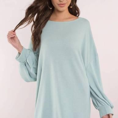 sage-it-was-love-sweatshirt-dress