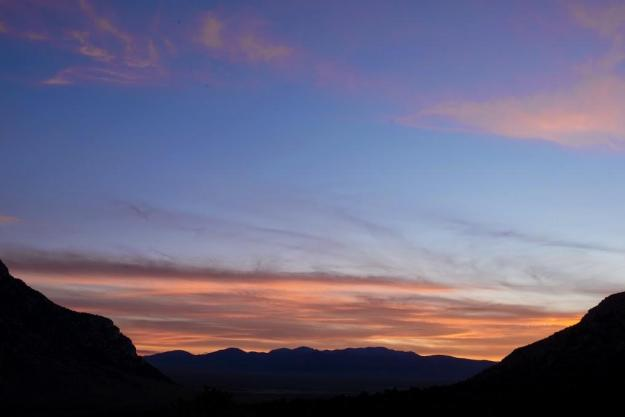Great Basin sunset, Cave Valley