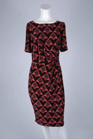 M&S Geometric Dress - Size 12 - Front