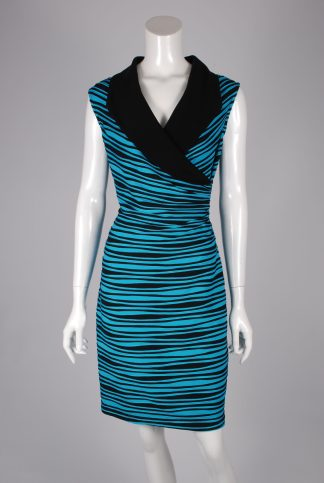 Joseph Ribkoff Striped Dress - Size 14 - Front