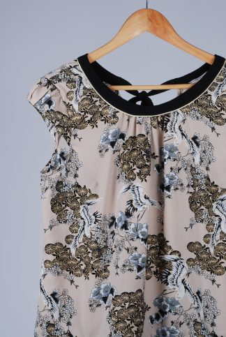 Billie & Blossom Eastern Print Top - Size 14 - Front Detail