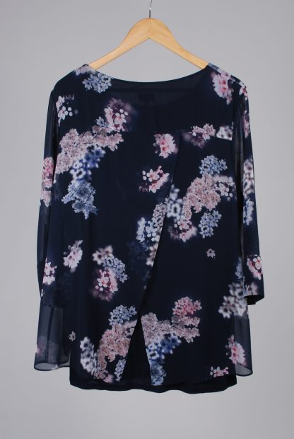 Phase Eight Floral Top - Size 18 - Back