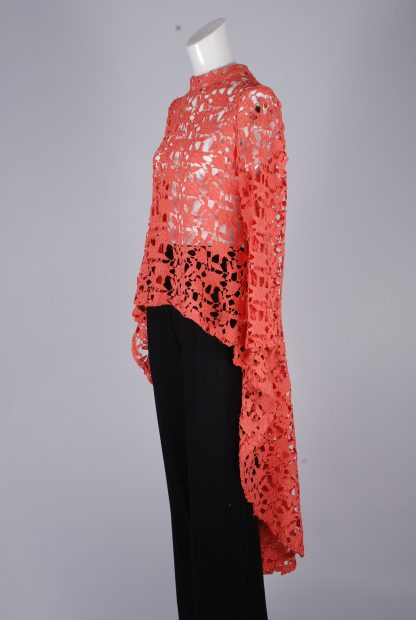 Stella Coral Lace Top - Size 8 - Side