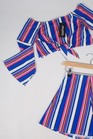 Boohoo Striped Co-Ord Set - Size 10 - Front Detail