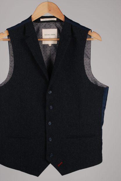 Racing Green 3 Piece Suit - Size 40 - Waistcoat Front