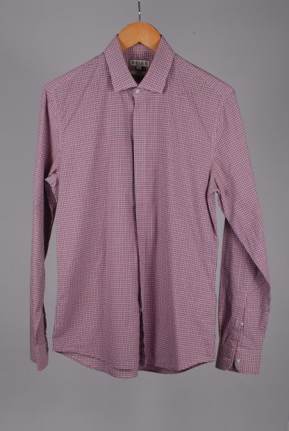 Reiss Blue & Red Check Shirt - Size M - Front