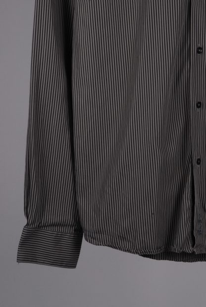 Ben Sherman Grey Striped Shirt - Size S - Front Hem