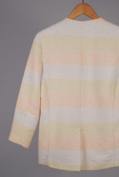 ASOS Pastel Striped Jacket - Size 10 - Back Detail