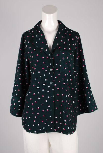 Monki Belted Polka Dot Box Shirt - Size S - Front