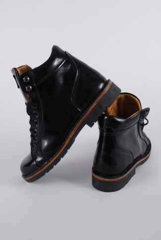 Piedro Black Patent Boots - Size 2.5 - Side