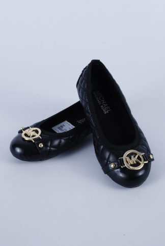 Michael Kors Black Quilted Flat Shoes - Size 10 - Front