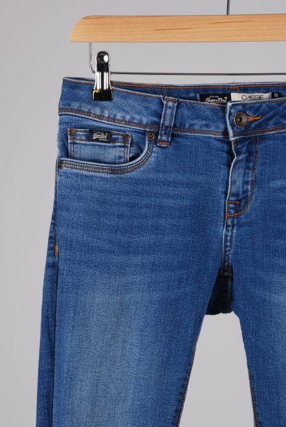 Superdry Cassie Skinny Blue Jeans - Size S - Front Detail